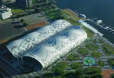 The New Kaohsiung Exhibition and Convention Center Royalty Free Stock Photography