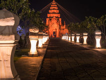 New Khmer Castle. With holv thread in Buriram Castle Stock Photos