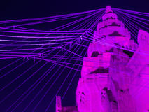 New Khmer Castle. With holy thread in Buriram Castle Royalty Free Stock Photo
