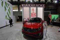 New KIA sedan 2011. Chicago auto show February 2011 Royalty Free Stock Images
