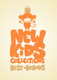 New kids collections design template. Royalty Free Stock Photography