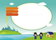 New Kids Diploma certificate template Stock Images