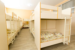 New kindergarten bedroom with small beds Stock Images