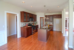 New Kitchen. In an Open House Stock Photo