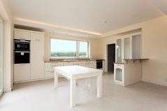 New kitchen with bright furniture Stock Image