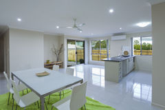 New kitchen and dining area. In suburban Australian house Royalty Free Stock Photos