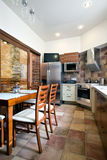 New kitchen interior in daylight Stock Photo