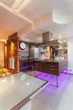 New kitchen interior Royalty Free Stock Photos