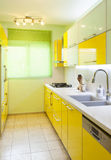 New kitchen in a modern home Royalty Free Stock Photo