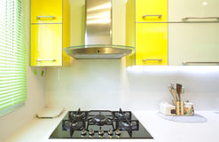 New kitchen in a modern home Stock Images