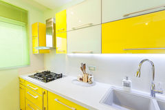 New kitchen in a modern home Royalty Free Stock Images