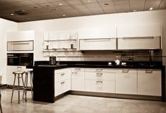 New Kitchen - sepia shot Stock Image