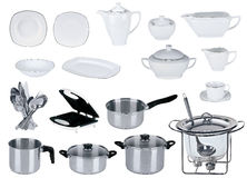 New kitchen set isolated Royalty Free Stock Photo