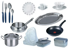 New kitchen set isolated Stock Images