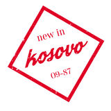New In Kosovo rubber stamp Stock Photos