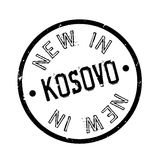 New In Kosovo rubber stamp Stock Photo