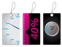New label set with discount meter Stock Images