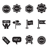New label and sticker icon set Stock Images