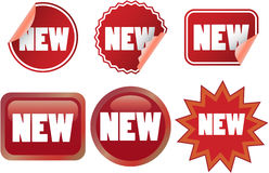 New labels Royalty Free Stock Photos