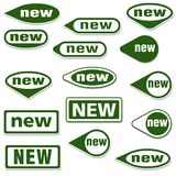 New Labels stock illustration