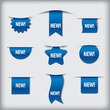 New labels blue Stock Photography