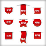 New labels Royalty Free Stock Images