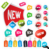 New Labels Set Royalty Free Stock Images