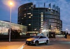 New Lamborghini Urus Luxury SUV parked on street royalty free stock photography