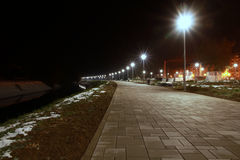 New lamps on promenade. Stock Photos