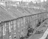 New Lanark World Heritage Site. Mill workers cottages at the new Lanark world heritage site Stock Photo