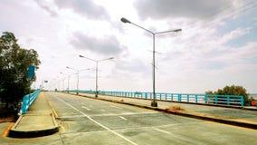 New landmark bridge shore the seaside at Chonburi Royalty Free Stock Photos