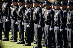 New LAPD Graduates lineup. Stock Image