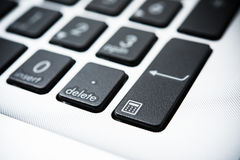 New laptop computer keyboard with black keys Royalty Free Stock Images