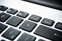 New laptop computer keyboard with black keys Stock Image