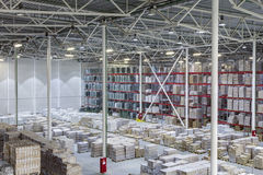 New large and modern warehouse. Interior of new large and modern warehouse space Royalty Free Stock Photos