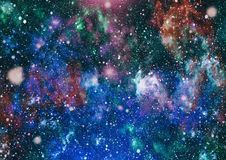 Awesome nebula in deep space. Galaxy and Nebula. Abstract space background. Royalty Free Stock Images