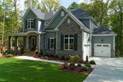 New large suburban house Stock Photography
