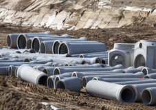 New large water pipes Royalty Free Stock Photo