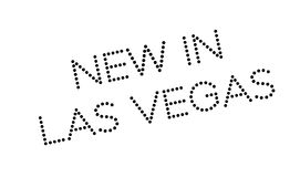 New In Las Vegas rubber stamp Royalty Free Stock Images
