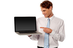 New latest technology laptop in market. Stock Image