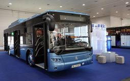 New LAZ bus. HANNOVER - SEP 20: New LAZ bus at the International Motor Show for Commercial Vehicles on September 20, 2012 in Hannover Germany Stock Photo