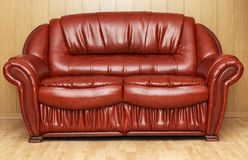 New leather divan Stock Photos