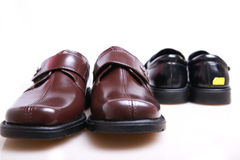 New leather shoes Royalty Free Stock Photography
