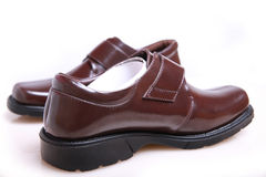 New leather shoes. On white background Stock Image