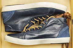 New leather sneakers Stock Photos