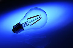 New led lamp bulb over blue background Stock Images
