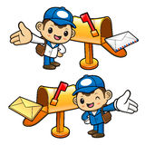 The new letter to the Postman Character arrived. Stock Image