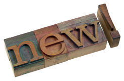 New - letterpreess printing blocks Stock Photos