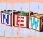 New Letters Show Latest Contemporary Or Newly Added Stock Images