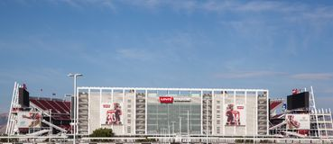 New Levi's Stadium San Jose. Showing the largest screen in a sports venue the 49'ers new stadium in San Jose stands ready to welcome fans next month Stock Images